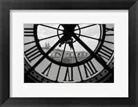 Framed Big Clock Horizontal Black and White