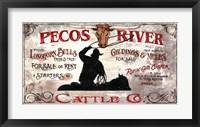 Framed Pecos