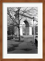 Framed Arc de Triomphe in Washington Square Park