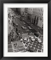 Framed Aerial View 5th Ave NYC