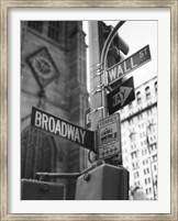 Framed Broadway and Wall Street