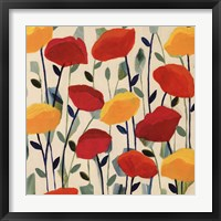 Cheerful Poppies Framed Print