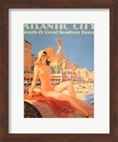 Framed Atlantic City - Pennsylvania Railroad