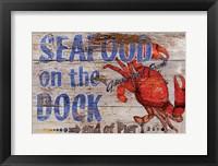 Framed Seafood on the Dock