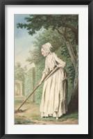Framed Duchess of Chaulnes as a Gardener in an Allee
