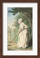 Framed Duchess of Chaulnes as a Gardener in an Allee