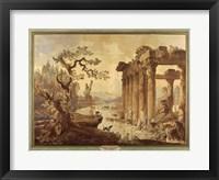 Framed Landscape with Ruins