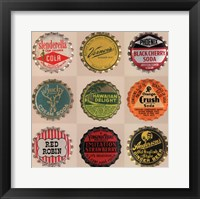 Framed Pop Bottletops II