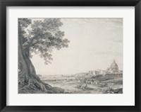 Framed Extensive View of Rome from the Orti della Pineta Sacchetti