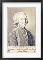 Framed Portrait of Nicolas Michel Cury