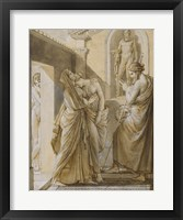 Framed Father of Psyche Consulting the Oracle of Apollo