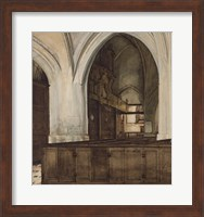 Framed Interior of Abbey of Aramont at Verberie