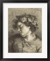 Framed Head of a Sleeping Bacchante