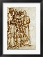 Framed Study of Four Saints