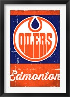 Framed Edmonton Oilers - Retro Logo 13