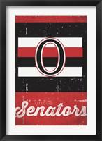 Framed Ottawa Senators - Retro Logo 13