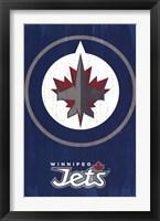 Framed Winnipeg Jets - Logo 13