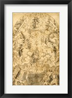 Framed Madonna and Child with Angels Bearing Symbols of the Passion
