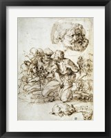 Framed Group of Shepherds, and Other Studies