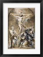 Framed Christ on the Cross with the Virgin Mary