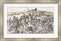 Framed Napoleon at the Battlefield of Eylau