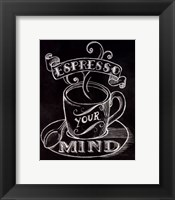 Espresso Your Mind No Border Framed Print