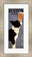 Framed Boston Terrier Brewing Co Panel