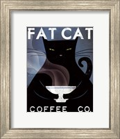 Framed Cat Coffee no City