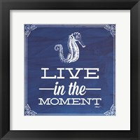 Framed Live in the Moment Blue