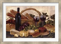 Framed Tuscan Evening Wine Crop