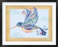 Framed Funky Hummingbird