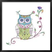 Framed Owl Branch