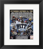 Framed University of Pittsburgh Panthers All Time Greats