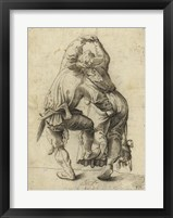 Framed Dancing Peasant Couple