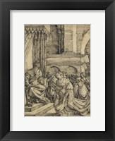 Framed Esther before Ahasuerus - drawing