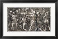 Framed Triumphal Procession of Roman Soldiers Carrying a Model of a City
