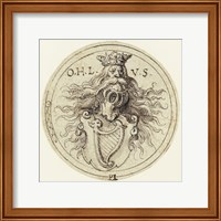 Framed Design for a Bookplate or a Glass Etching