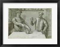 Framed Double Portrait of Hans Furraht and Jacob von der Burch