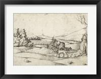 Framed Falconer in a Landscape