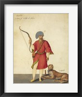 Framed Azappo Archer with a Cheetah