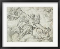 Framed Angels Bearing the Column of the Passion
