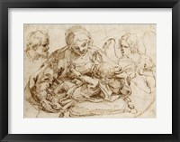 Framed Holy Family with an Angel