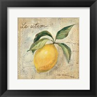 Framed Le Citron