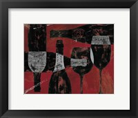 Framed Wine Selection III Red
