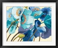 Framed Le Pavots Bleu