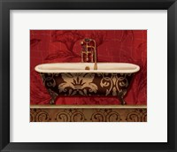 Framed Royal Red Bath I