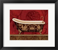 Framed Royal Red Bath II