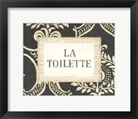 Framed La Toilette
