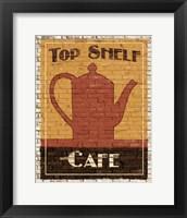 Top Shelf Cafe Framed Print