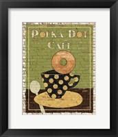 Framed Polka Dot Cafe